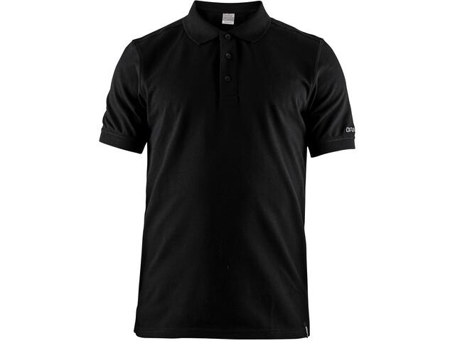 Craft Casual Pique Polo Hombre, black